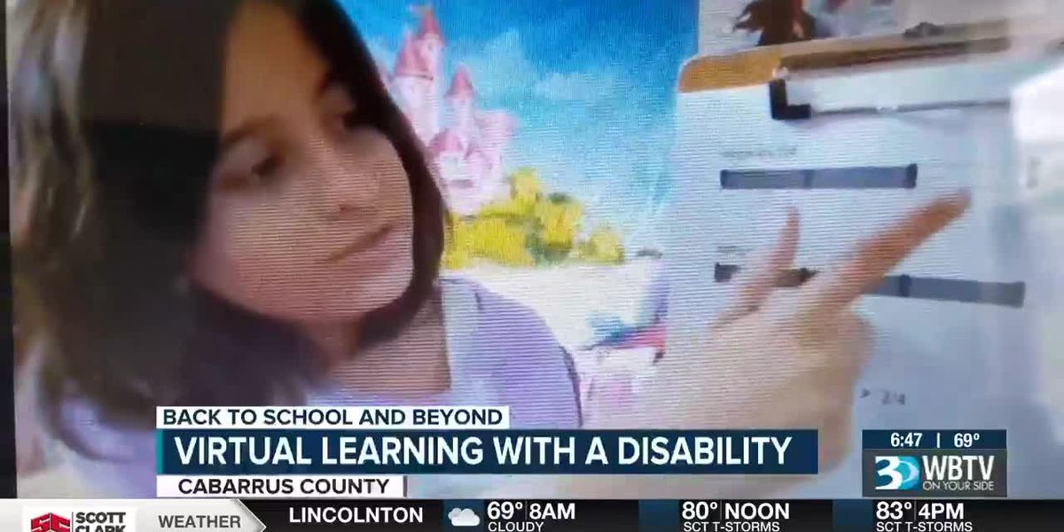 Virtual learning with a disability