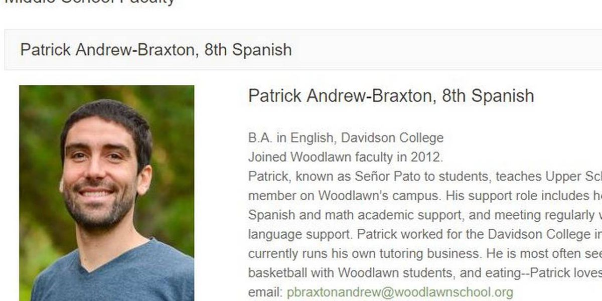 Teacher, a Davidson grad, went on a walk in Mexico. He hasn't been heard from since