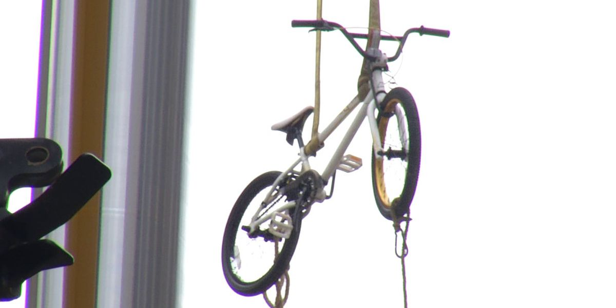 NC boy battling leukemia gets bike lifted up to his hospital room on his birthday