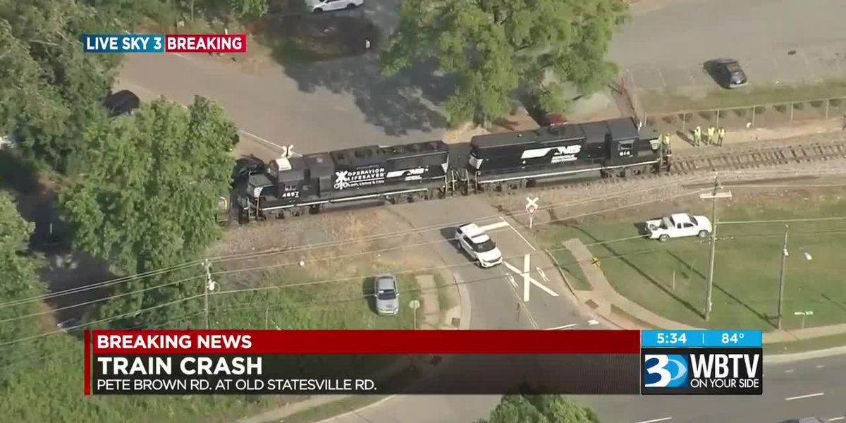 Train crash reported on Old Statesville Road