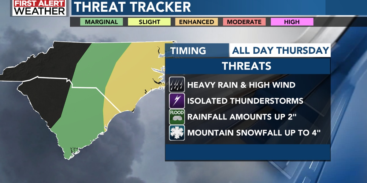 FIRST ALERT: Winter weather and strong storms to break out on Christmas Eve