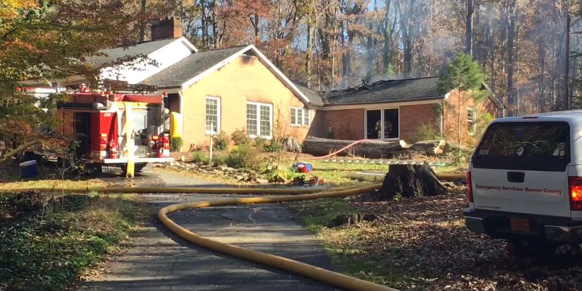 Homeowner, four pets rescued after fire rips through roof of Salisbury home