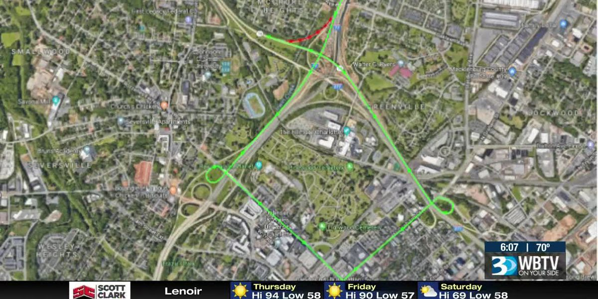 Detours planned for construction of I-77 noise wall
