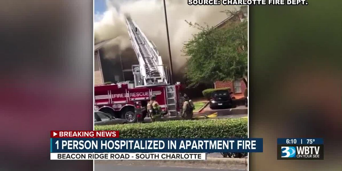 1 person badly hurt in apartment fire