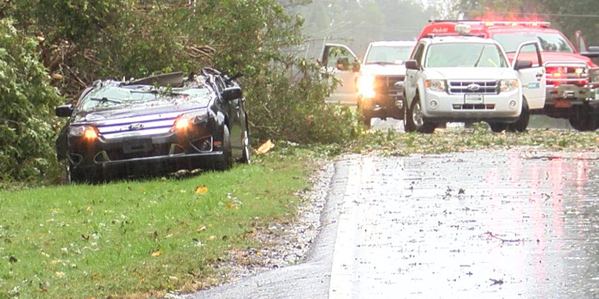 One killed when tree falls on car in Iredell Co. as Michael moves through