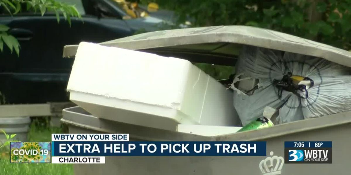 City of Charlotte seeing major increase in trash pickup, issues suggestions to residents