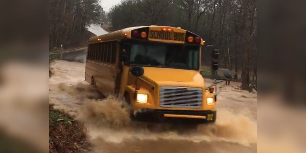 School bus drives through standing water in Iredell Co., investigation underway