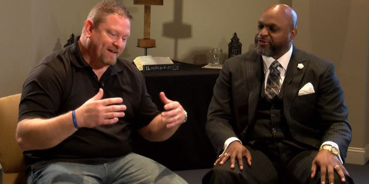 Two Pastors united by hate crime, come together to talk about race