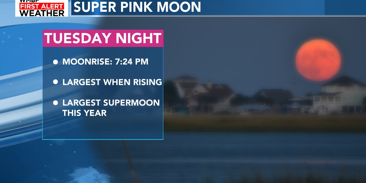 Super Pink Moon arrives Tuesday night