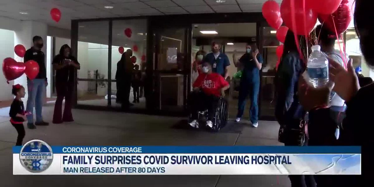 Family surprises member when he's released after 80 days in hospital