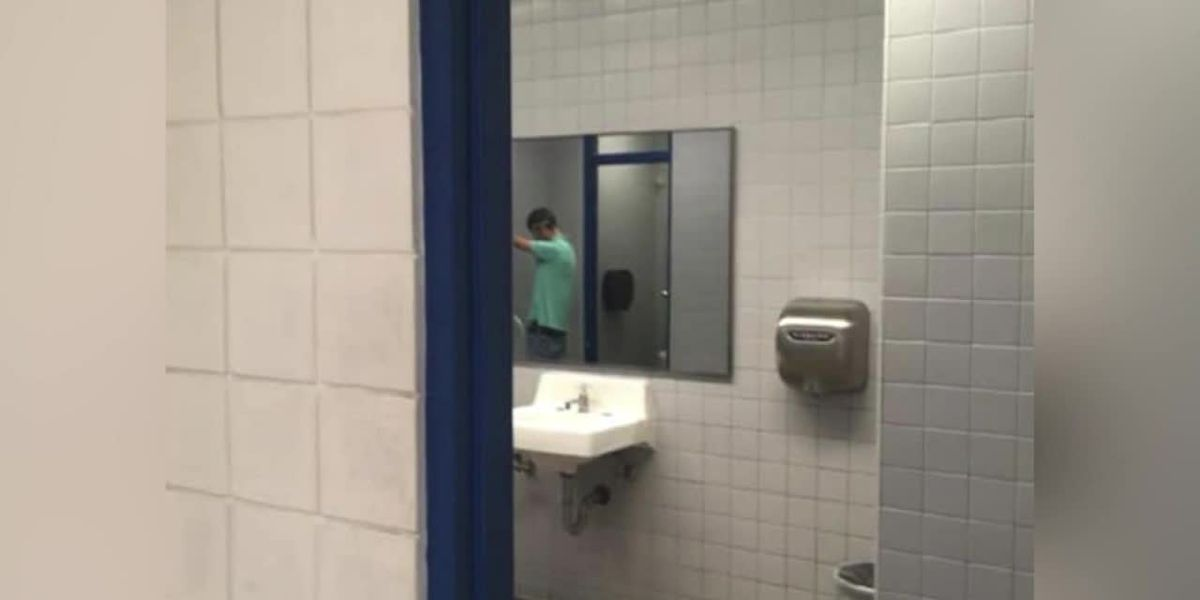 Students protest removal of doors from school's restrooms