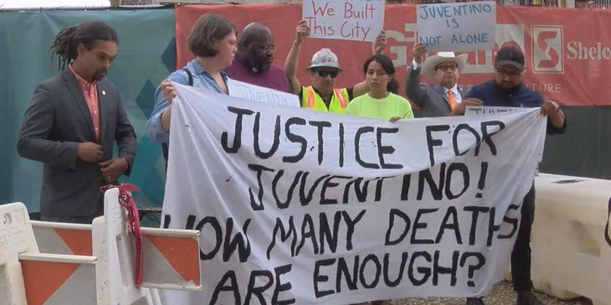 Charlotte labor leaders demand justice after construction worker dies on the job