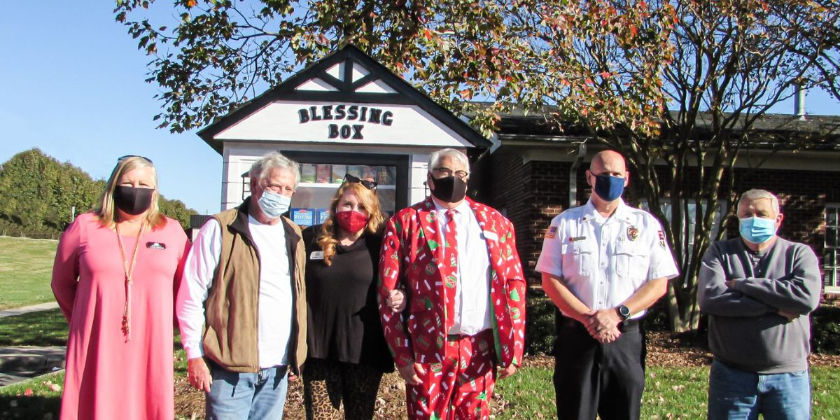 Blessing Box installed at Kannapolis Fire Station 1