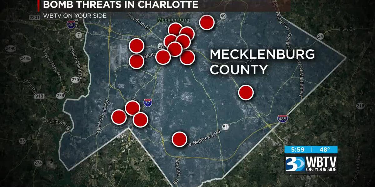 Bomb threats reported across Charlotte, Carolinas and country