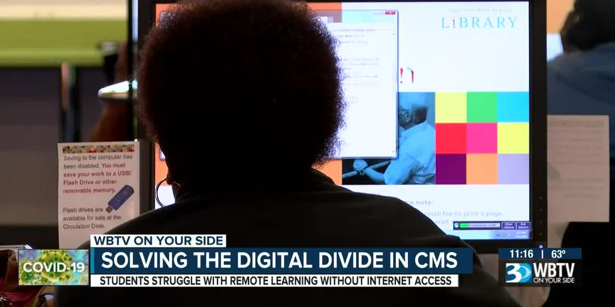 A digital divide is causing issues for CMS students, district works to find solutions