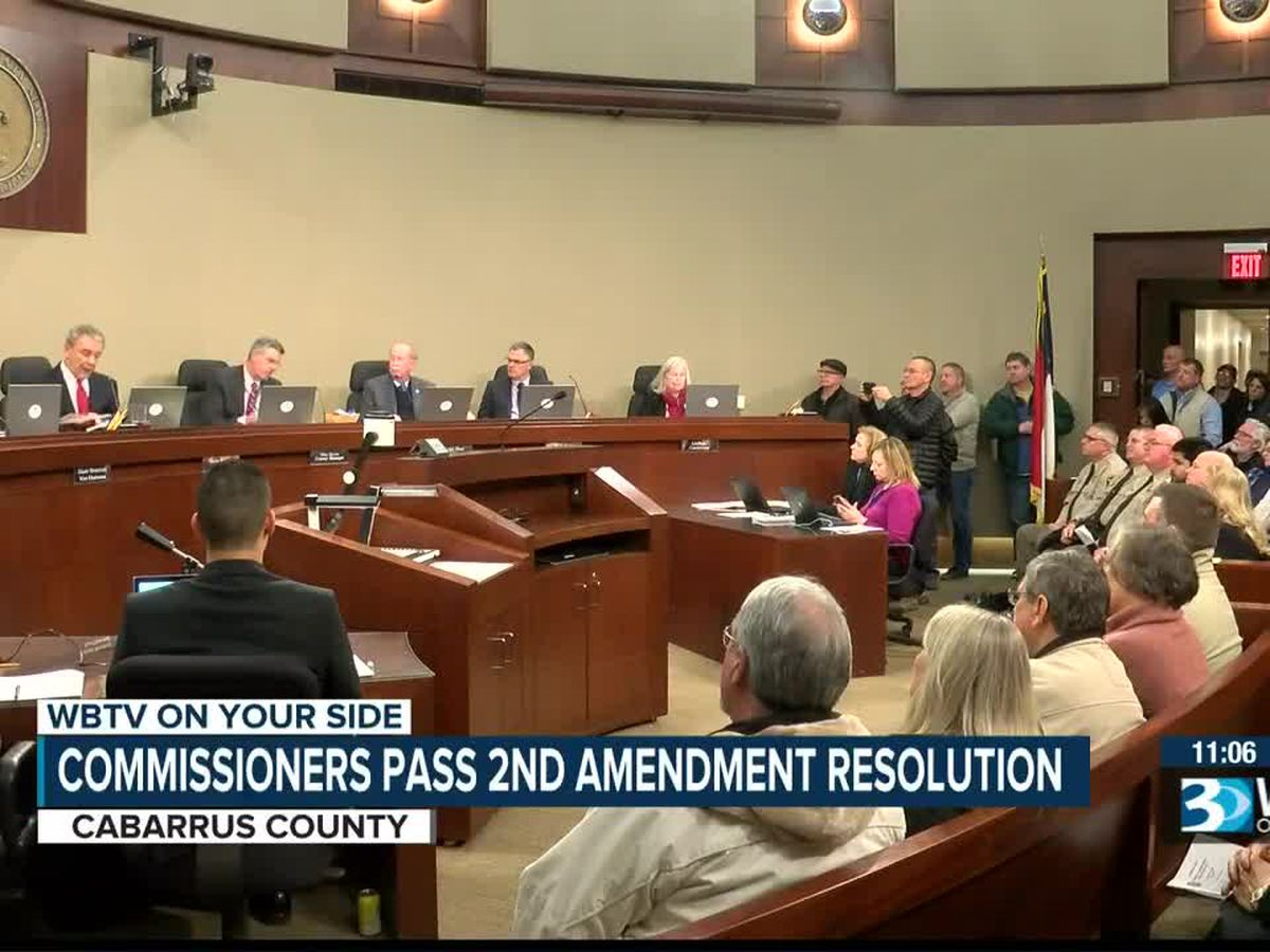 Cabarrus County commissioners approve support of second amendment resolution