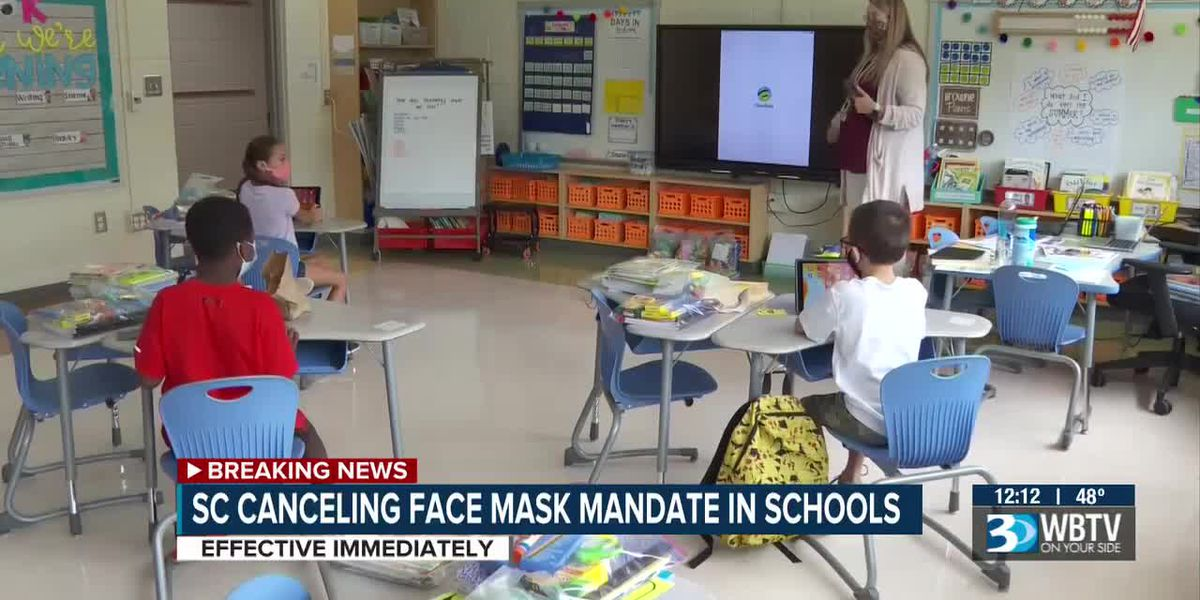 S.C. canceling mask mandate for students in schools
