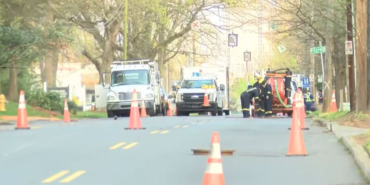 Gas pouring out of main road near Plaza Midwood causes day-long treet closure