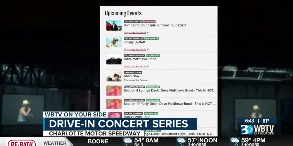 Drive-in concert series at Charlotte Motor Speedway