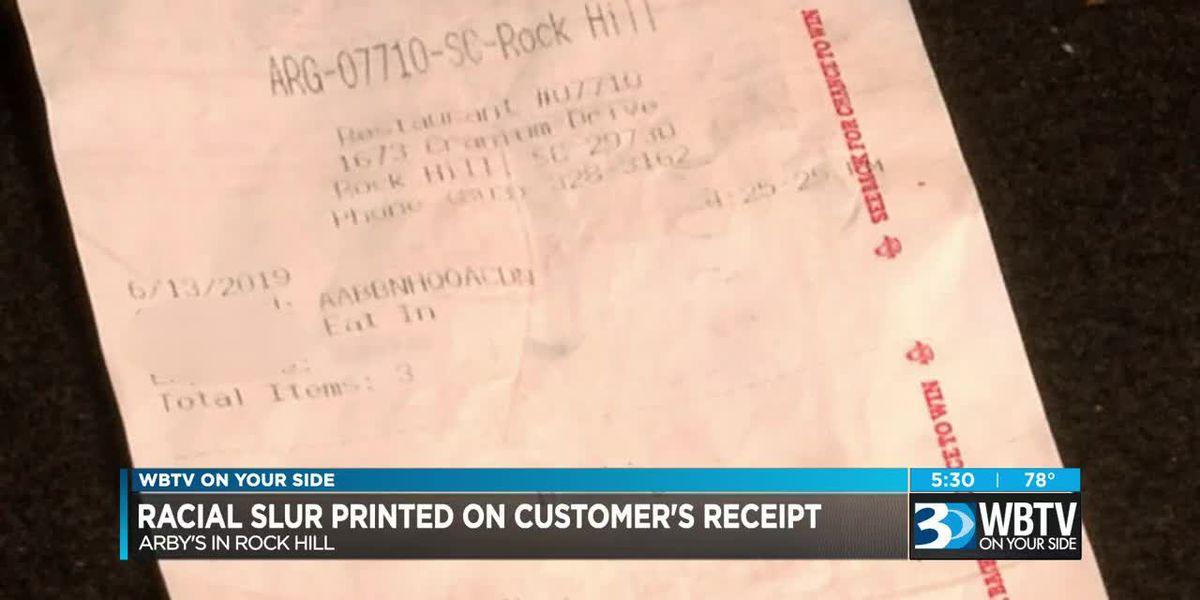 Employee fired after racial slur put on receipt