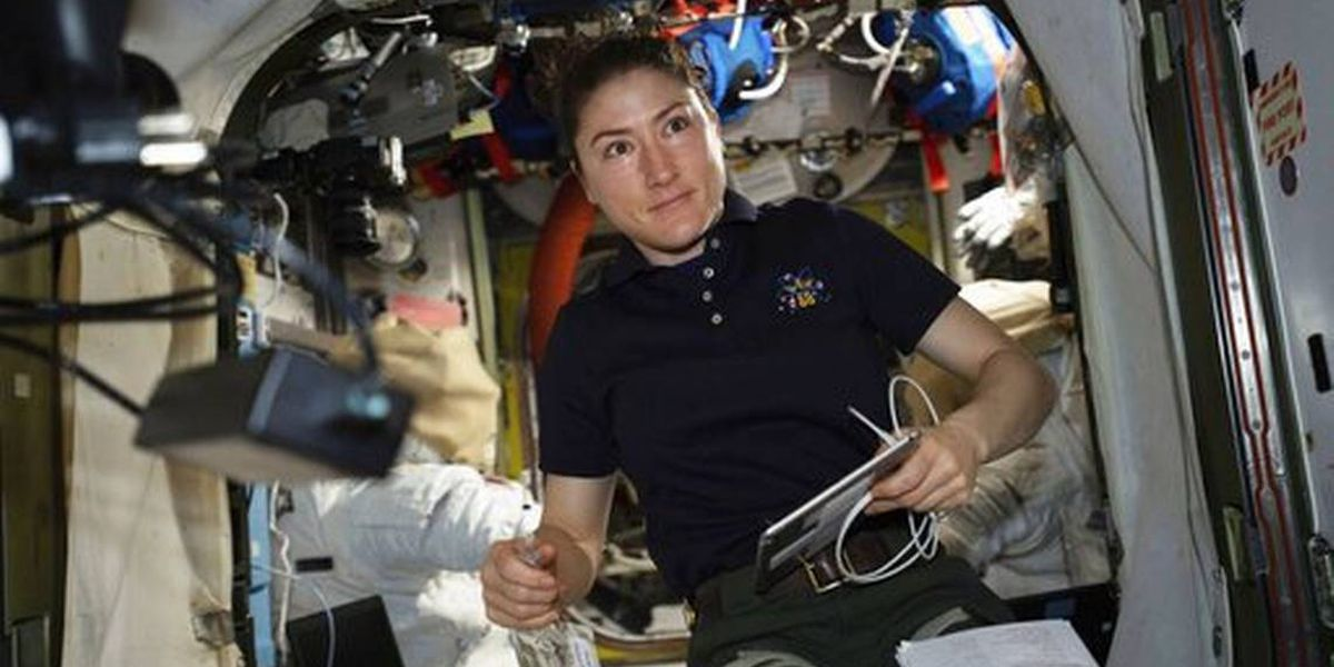 MI astronaut sets record for longest spaceflight by woman
