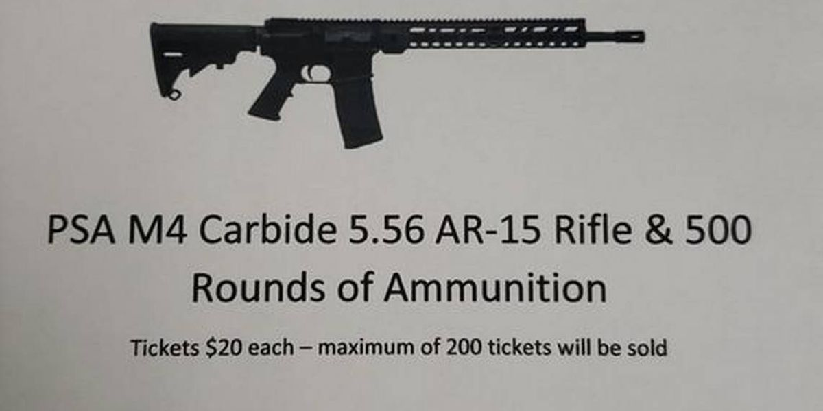 York Fire Department auctioning off an AR-15. It's legal. Officials point to SC law.