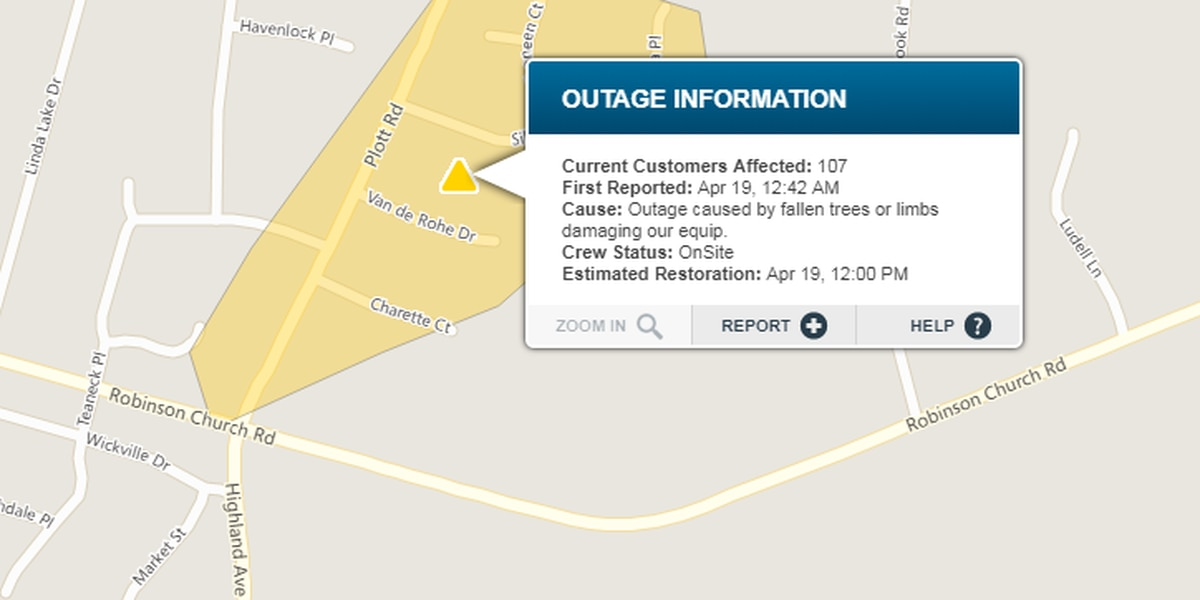 East Charlotte residents expected to be without power for 12 hours