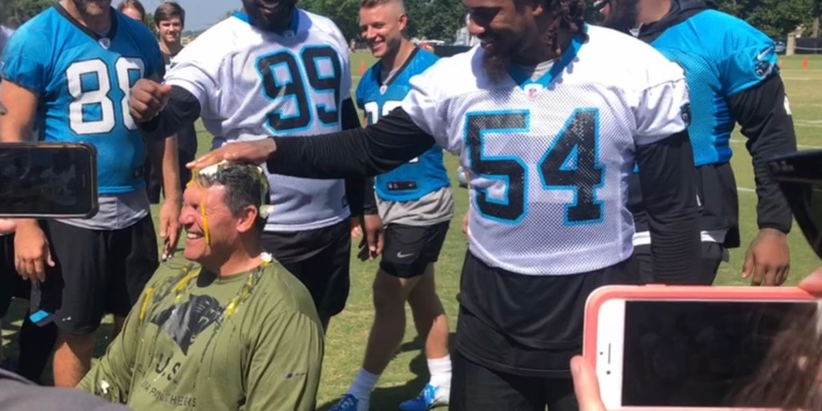 Panthers Back on the Field for Week Two of OTAs, Coach Rivera takes part in Crack Cancer Challenge