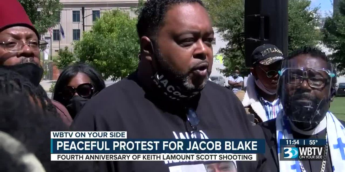 Jacob Blake's family leads peaceful rally for racial justice in uptown Charlotte