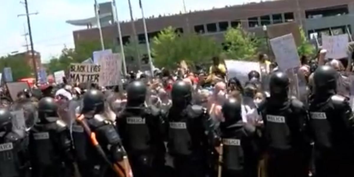 Curfew in effect for downtown Columbia due to violent protests, 4 officers injured