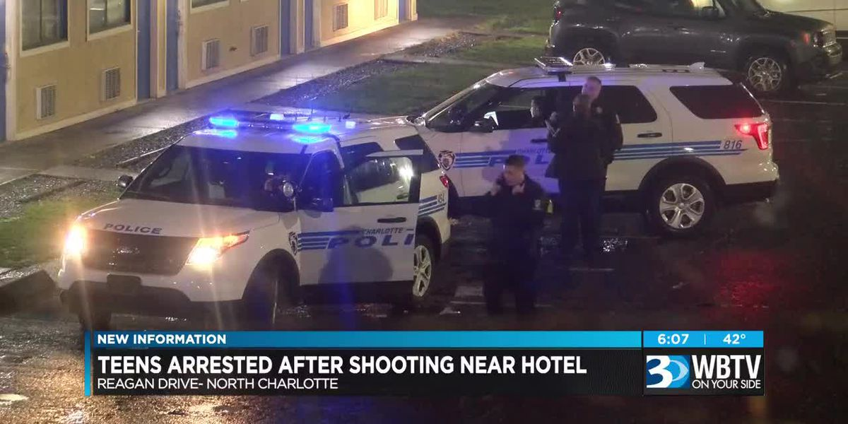 Teens charged in shooting near hotel