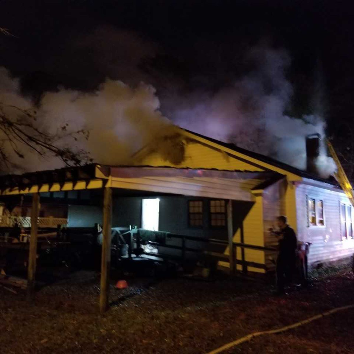 Kannapolis home heavily damaged by Tuesday night fire