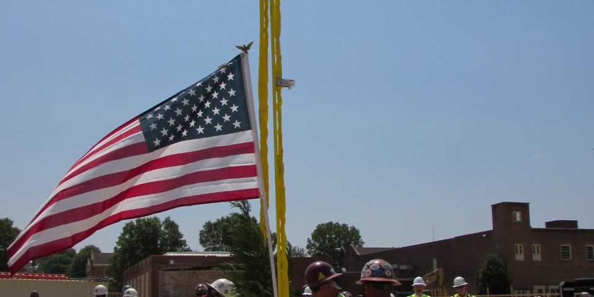 Ceremonial 'topping out' held at site of new Kannapolis Sports and Entertainment venue