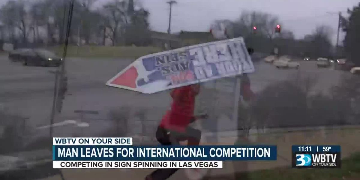Sign spinning isn't just about advertising, it's a sport too