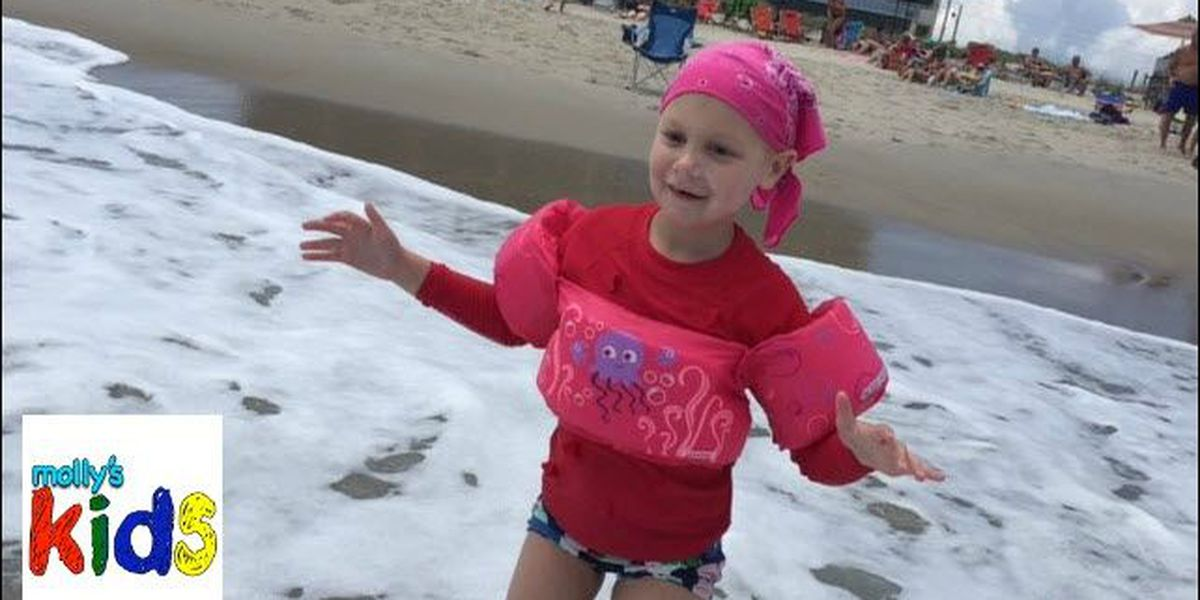 Molly's Kids: Charlotte girl fighting cancer introduced to Kure Beach
