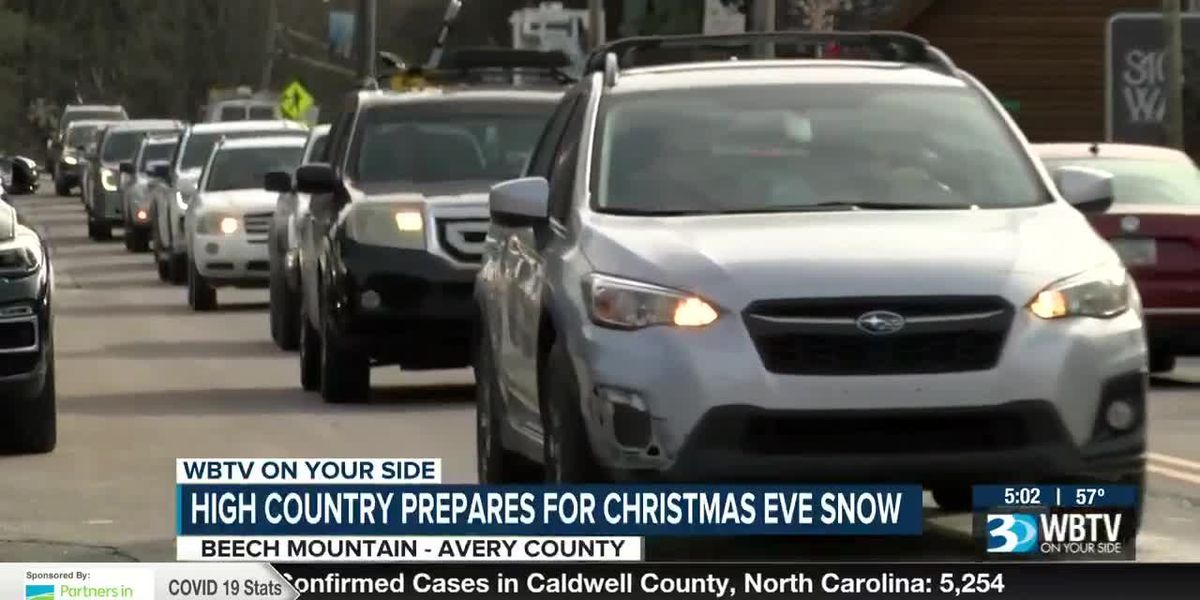 Mountains prepping for possible White Christmas