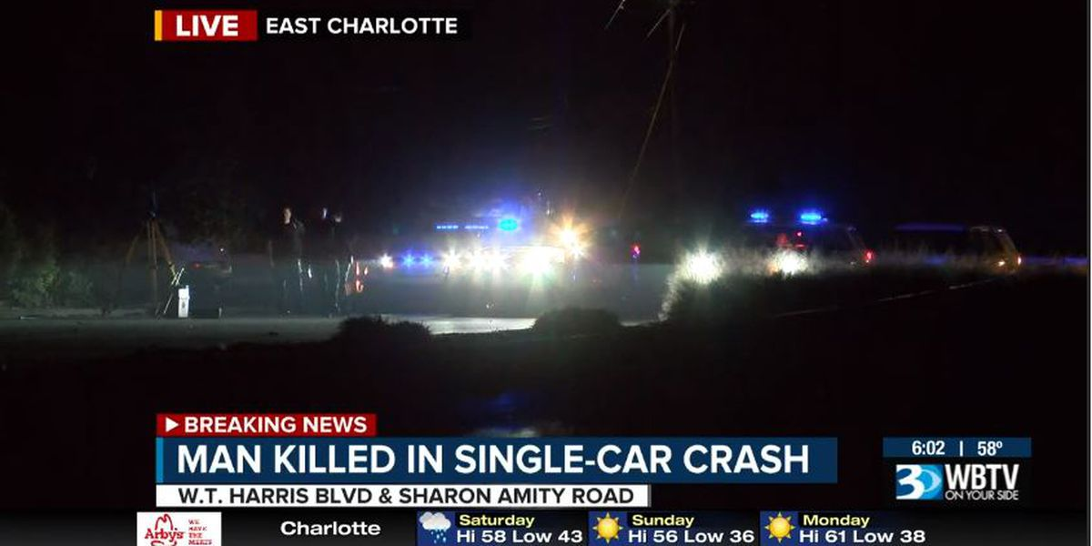 One dead after overnight crash on W.T. Harris Blvd