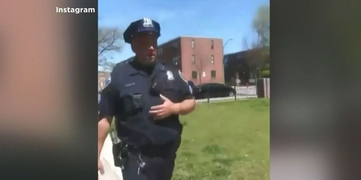 Baltimore police investigating after video shows sergeant coughing near residents
