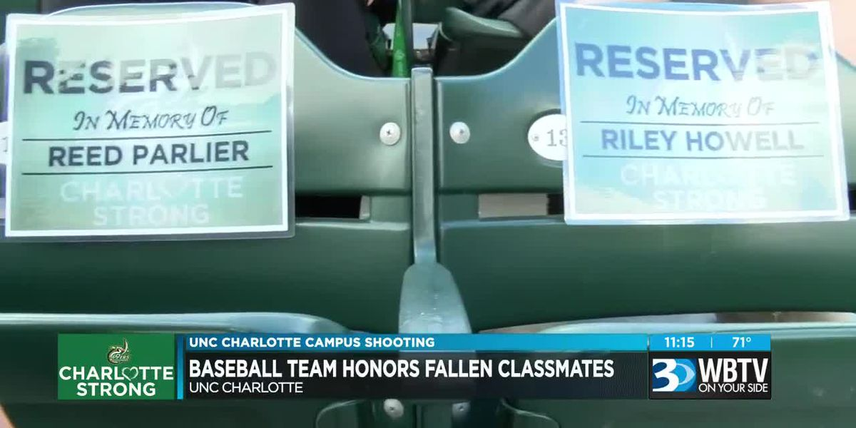 Charlotte 49ers baseball team reserves front row seats for students killed in shooting