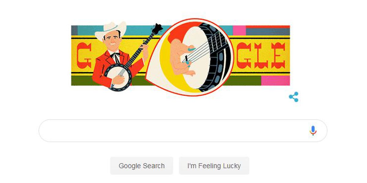 Google celebrates Cleveland Co. bluegrass entertainer Earl Scruggs with doodle