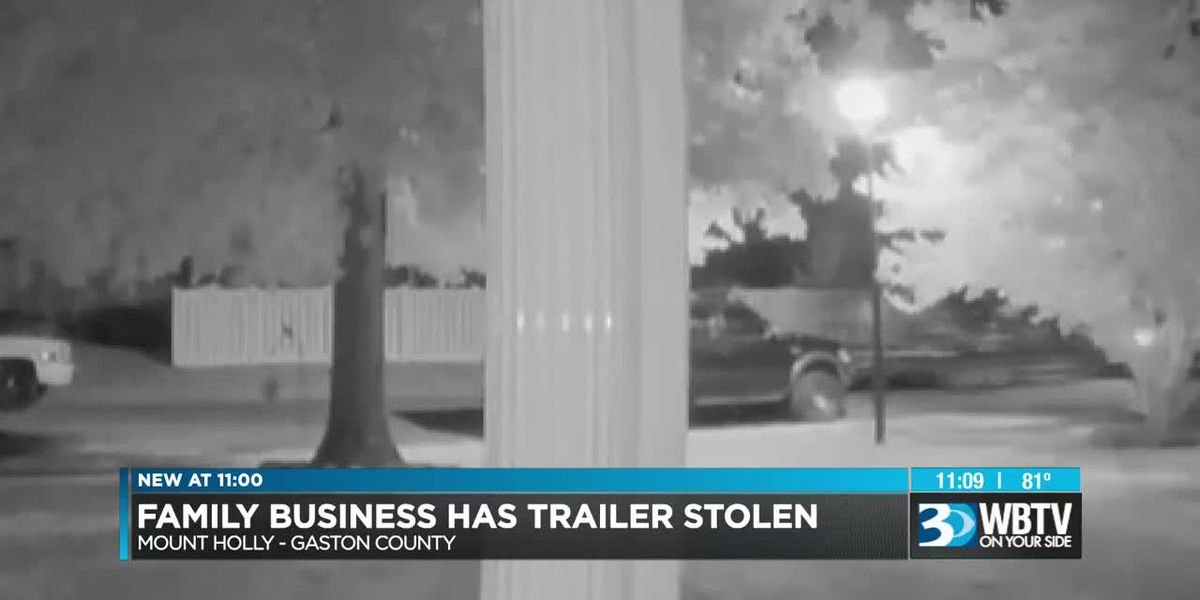 Landscaping business owner says trailer, thousands of dollars worth of equipment stolen from home
