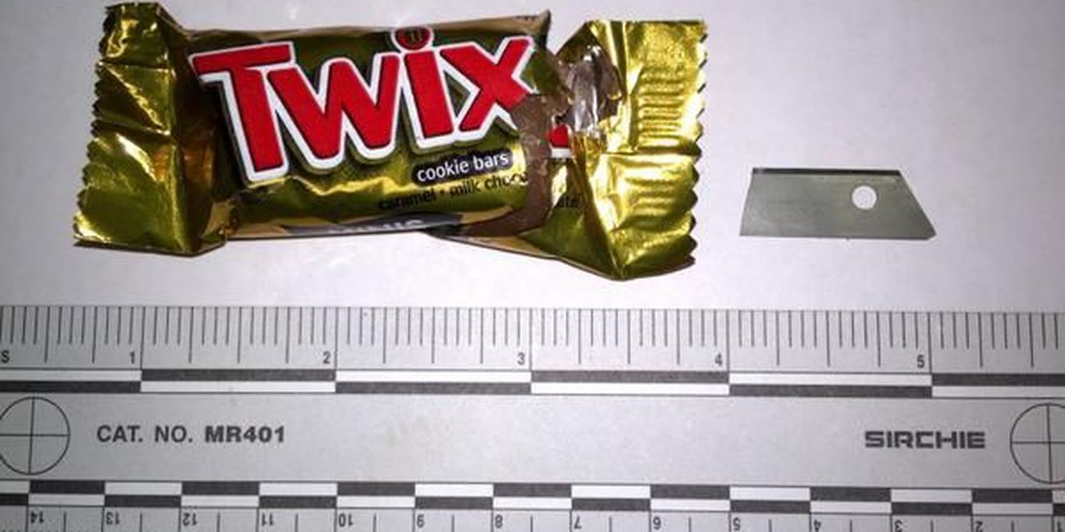 Parent says a razor blade was in Halloween candy