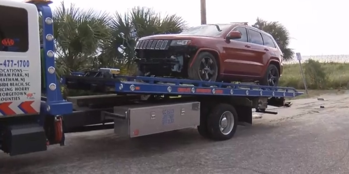 JEEP WATCH ENDS: Infamous vehicle removed from the beach after Dorian