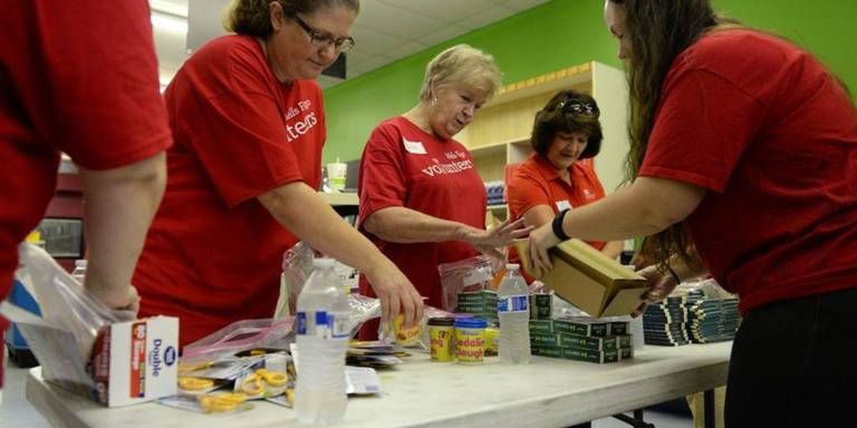 Local nonprofit uses one bank's philanthropy to give away school supplies