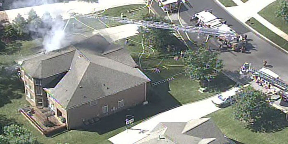 Large home catches fire in Union County