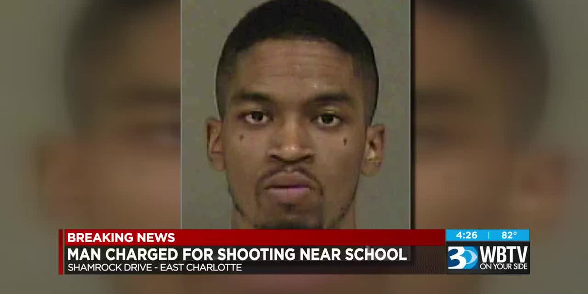 Man charged for shooting out Charlotte elementary school