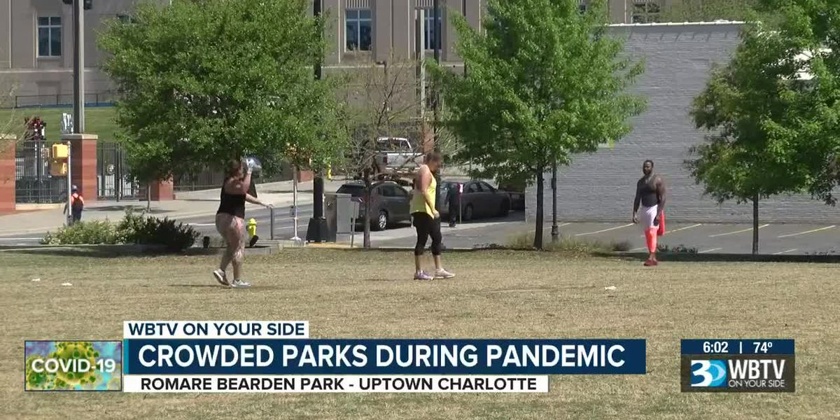 'It literally just looks like a giant petri dish': Concerns raised about crowds at uptown Charlotte park