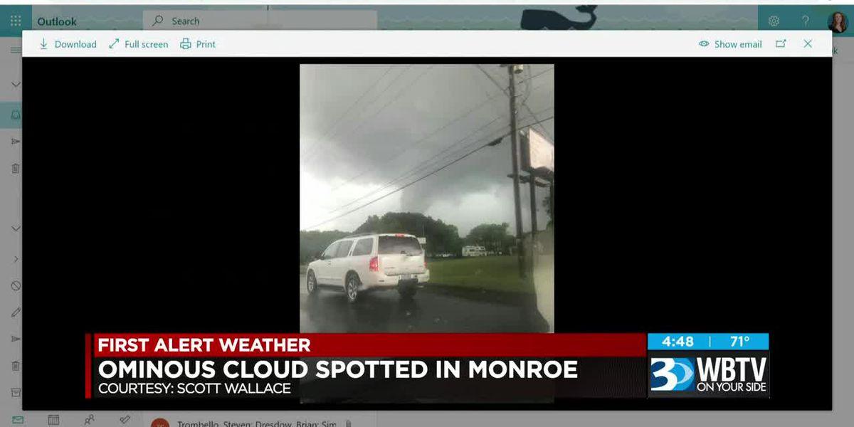 Ominous cloud spotted in Monroe