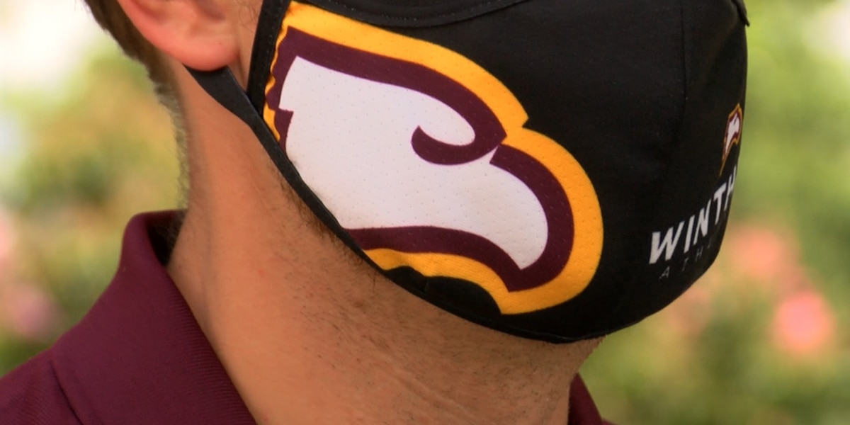 Winthrop University's new masks help fund student-athlete scholarships