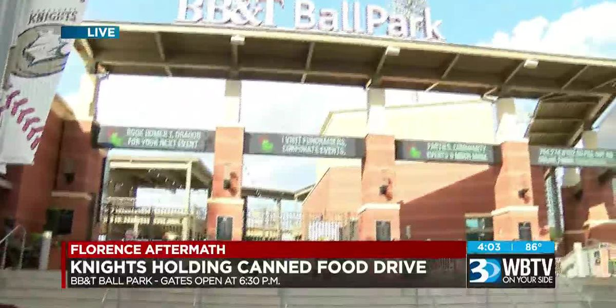 Charlotte Knights holding canned food drive for Florence victims